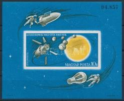 1965 Az űrkutatás eredményei vágott blokk (4.000)