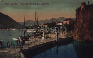 1918 Kotor, Cattaro; Most Gurdic / Brücke Gurdic / bridge, port (EK)