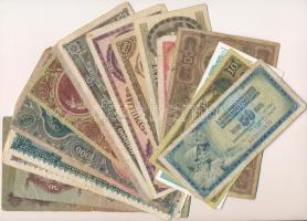 23db vegyes magyar és külföldi bankjegy, közte főleg pengők T:vegyes