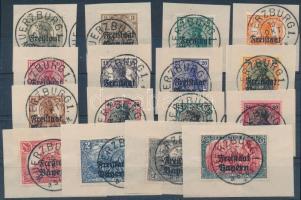 1919 Mi 136-151 kivágásokon (Mi EUR 75,-)