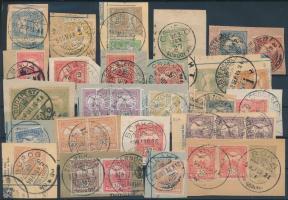 1900-1917 35 db turul bélyeg kivágáson különböző, szép bélyegzésekkel