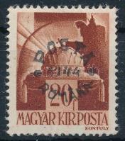 Kolozsvár 1919 Pirosszámú portó 20f a felülnyomáson az M betű szára törött, garancia nélkül (20.000)