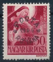 Máramarossziget 1944 Szent Margit 30f, a felülnyomáson M betű szára törött, garancia nélkül (24.000)