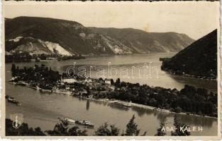 Ada Kaleh, Török sziget Orsova alatt, gőzhajó / Turkish island, steamship (fl)