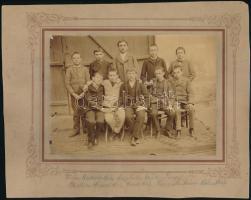 1892 Feliratozott, vintage fotó, 12x1,8 cm, karton 19,4x24,8 cm