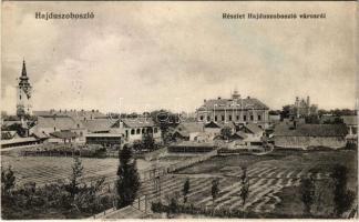 1916 Hajdúszoboszló, látkép, templom, takarékpénztár, zsinagóga. Körner Béla kiadása