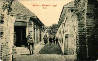Ada Kaleh (Orsova), bazár, Hayri Ahmed üzlete. W.L. Bp. 172. / Turkish bazaar shop