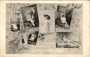 1906 Kolozsvár, Cluj; Joánovics Testvérek fényképészek specialisták gyermekfelvételekben, szecessziós reklám / photographers Art Nouveau advertisement (EK)