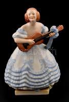 Herendi Déryné, kézzel festett, jelzett, hibátlan m: 21 cm
