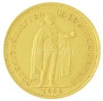 1905KB 10K Au Ferenc József Körmöcbánya (3,38g/0.900) T:2 Hungary 1905KB 10 Korona Au Franz Joseph I Kremnitz (3,39g/0.900) C:XF Adamo K8