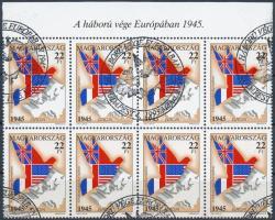 1995 Europa CEPT 8-as tömb ívszéli felirattal