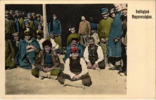 Orosz hadifoglyok Magyarországon. Kranzinger Nándor kiadása Cs. Somorja / WWI Russian prisoners of war (POWs) in Hungary