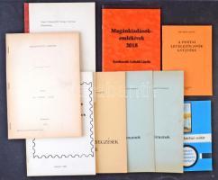 9 db filatéliai szakkönyv / füzet