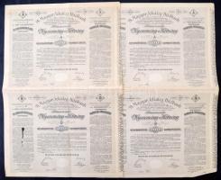 Budapest 1906 Magyar Jelzálog Hitelbank A és B nyeremény-kötvénye ívben 100K-ról szárazpecséttel és bélyegzéssel (2x) sorszámkövetők T:II,II-