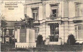 1928 Nijmegen, Thomas-Standbeeld Universiteits-Gebouw / statue, monument, university