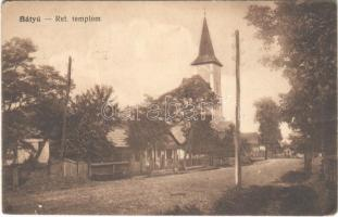 1916 Bátyú, Batyovo, Batovo, Batiovo; Református templom. Vasúti Levelezőlapárusítás 5652. / Calvinist church (EK)