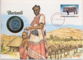 Burundi 1980. 5Fr Al felbélyegzett borítékban, bélyegzéssel, német nyelvű leírással T:1- Burundi 1980. 5 Francs Al in envelope with stamp, with German description C:AU