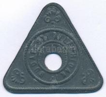 ~1900. Budapesti Államhidak Zn hídbárca (30x32mm) T:2