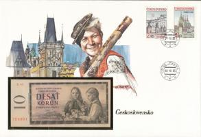 Csehszlovákia 1960. 10K felbélyegzett borítékban, bélyegzéssel T:I  Czechoslovakia 1960. 10 Korun in envelope with stamp and cancellation C:UNC