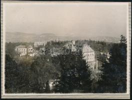 1928 Kinszki Imre (1901-1945) budapesti fotóművész hagyatékából, a szerző által datált vintage fotó (Bp., Svábhegy), 6x8 cm