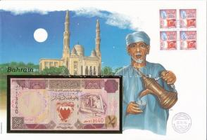 Bahrein 1973. 1/2D felbélyegzett borítékban, bélyegzéssel T:I Bahrain 1973. 1/2 Dinar in envelope with stamp and cancellation C:UNC