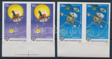 1991 Európa az űrben ívszéli vágott pár (**14.000)