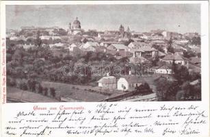 1904 Chernivtsi, Czernowitz, Cernauti, Csernyivci; Gruss aus / general view. Verlag von Sigm. Jäger Nr. 2. (EK)