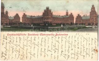 1904 Chernivtsi, Czernowitz, Cernauti, Csernyivci; Erzbischöfliche Residenz Czernowitz-Bukowina / Orthodox archbishops palace and residence. Verlag Jäger (fl)