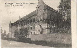 1915 Kolomyia, Kolomyja, Kolomyya, Kolomea; Zaklad S. S. Urszulanek / Ursuline monastery (EK)
