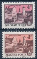 1980 Tájak-városok 4Ft két klf kiadása