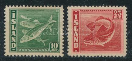 1940 Halak motívum bélyegek Mi 215A+216a (14-es fogazás) (Mi EUR 130,-)