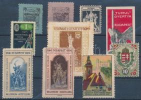 1896-1938 10 klf régi magyar levélzáró