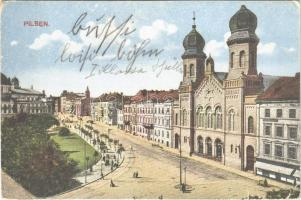1925 Plzen, Pilsen; synagogue (EK)