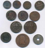 12db-os vegyes magyar és külföldi érmetétel T:2-,3 12pcs mixed Hungarian and foreign coin lot C:VF,F