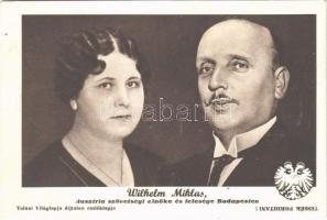 1937 Wilhelm Miklas, Ausztria szövetségi elnöke és felesége Budapesten. Tolnai Világlapja / Wilhelm Miklas, President of Austria from 1928 until the Anschluss to Nazi Germany in 1938, and his wife visiting Budapest (EK)