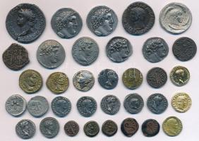 34db múzeumi másolat érme, főleg jelzett ókori római replikák T:vegyes