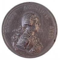 Ausztria ~1771. CAROLVS ARCHIDVX AVST / PRVDENTER AC FORTITER Zn emlékérem. Szign.: A. Wideman (44mm) T:3