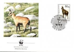 WWF: Chamois FDC, WWF: Zerge FDC