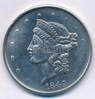 Amerikai Egyesült Államok 1849. 20$ Fe másolat COPY jelzéssel T:1 USA 1849. 20 Dollars Fe replica, with COPY sign C:UNC