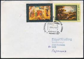 1991 Északi-sark 31 jégenúszó kutatóállomás bélyegzés levélen