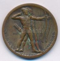 Berán Lajos (1882-1943) 1942. Gamma Lövész Egyesület / 1941 gold plated Br díjérem (31,5mm) T:2