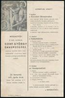 1937 Meghívó a katolikus cserkészek Szent György ünnepségére, programmal, hajtva