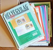 Több, mint 200 db 1956-2010 közötti Bélyegvilág Filatéliai szemle számos kutatási eredménnyel, érdekes cikkekkel, dobozban