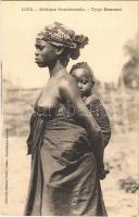 Afrique Occidentale, Type Saussai / African folklore from Senegal