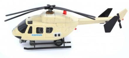 cca 1980 Magyar rendőrségi helikopter. Elemes játék. Nem kipróbált. 32x12 cm