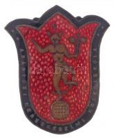 ~1920-1930. Aranyosi Kereskedelmi Középiskola zománcozott Br sapkajelvény (49,5x41mm) T:2 kis zománchiba