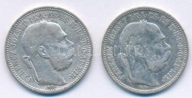 1893KB 1K Ag Ferenc József (2x) T:2- Adamo K5
