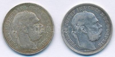 1894KB 1K Ag Ferenc József (2x) T:2- Adamo K5