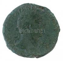Római Birodalom / Róma / Hadrianus 119-121. Sestertius Br (16,64g) T:3 patina, lepattogzott Roman Empire / Rome / Hadrianus 119-121. Sestertius Br IMP CAESAR TRAIAN[VS] HADR[IANVS AVG] / PONT MAX T R POT COS III - S-C (16,64g) C:F patina, cracked RIC II 562.