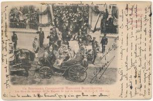 Les fetes du mariage de Sa Majeste de Roi de Serbie / The marriage ceremony of Alexander I of Serbia and Queen Draga (wet damage)